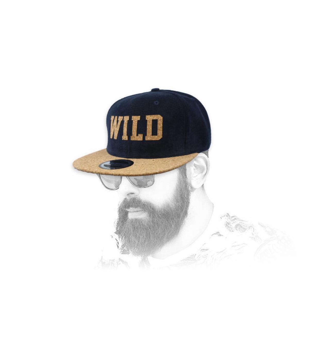 snapback Wildblauwe kurk