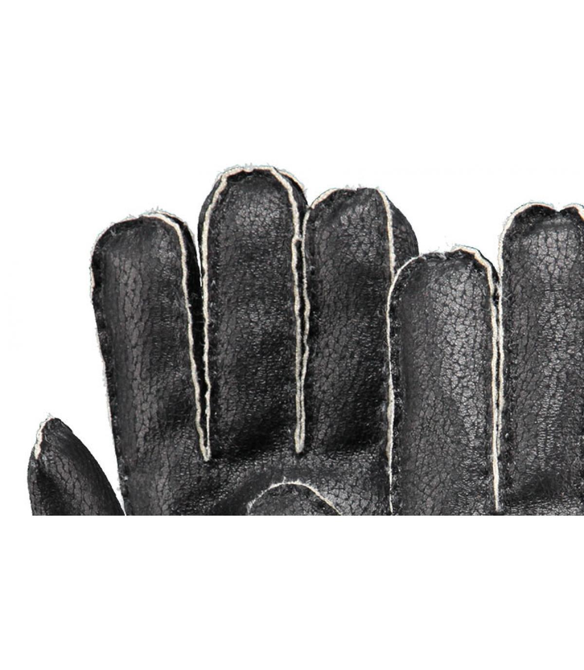 Details Chakku handschoenen heren zwart - afbeeling 2
