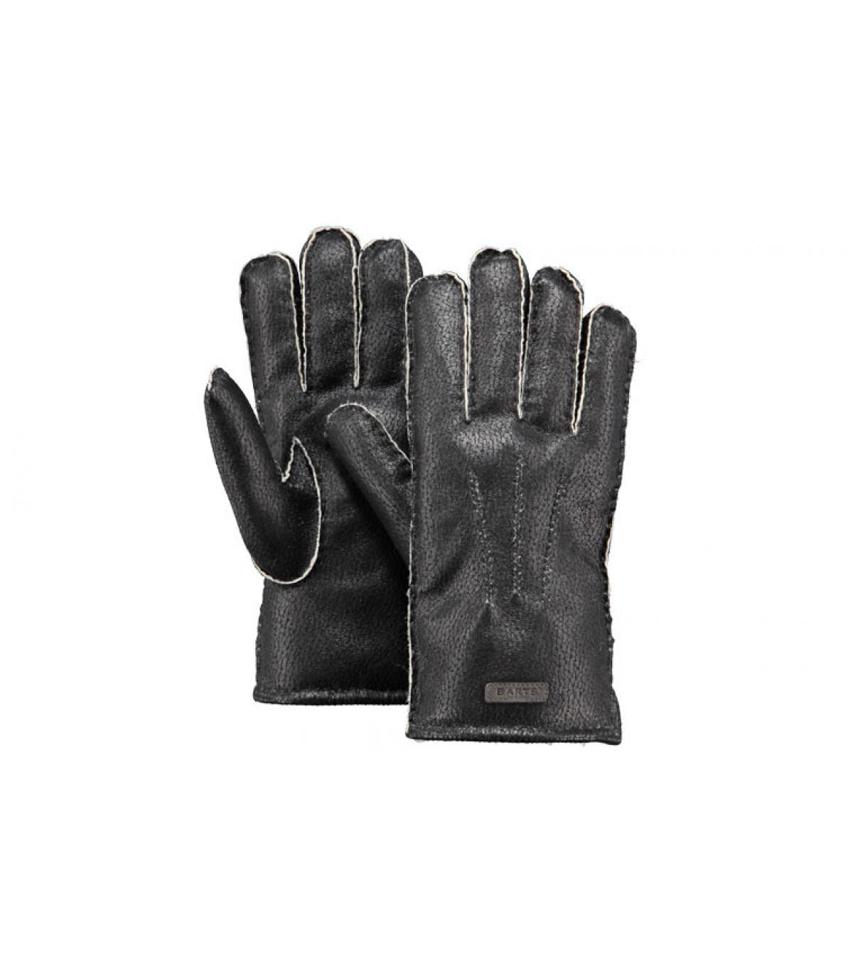 Details Chakku handschoenen heren zwart - afbeeling 3