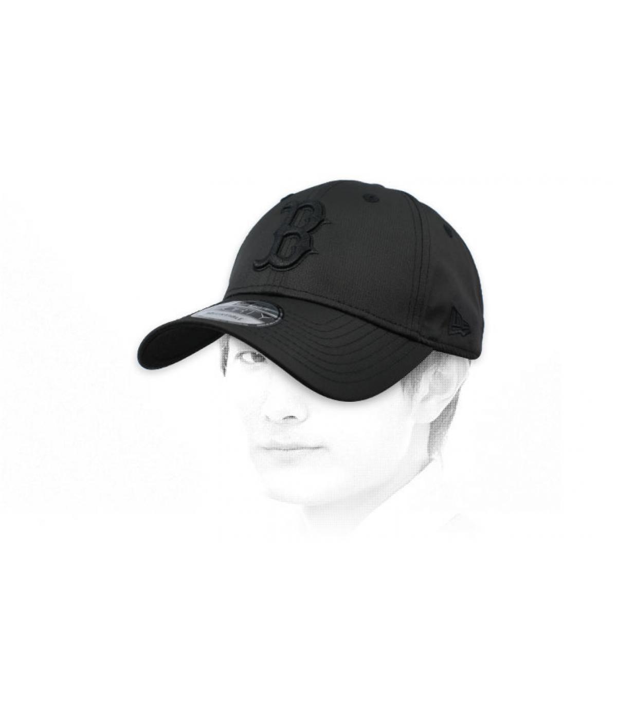 cap B zwarte ripstop