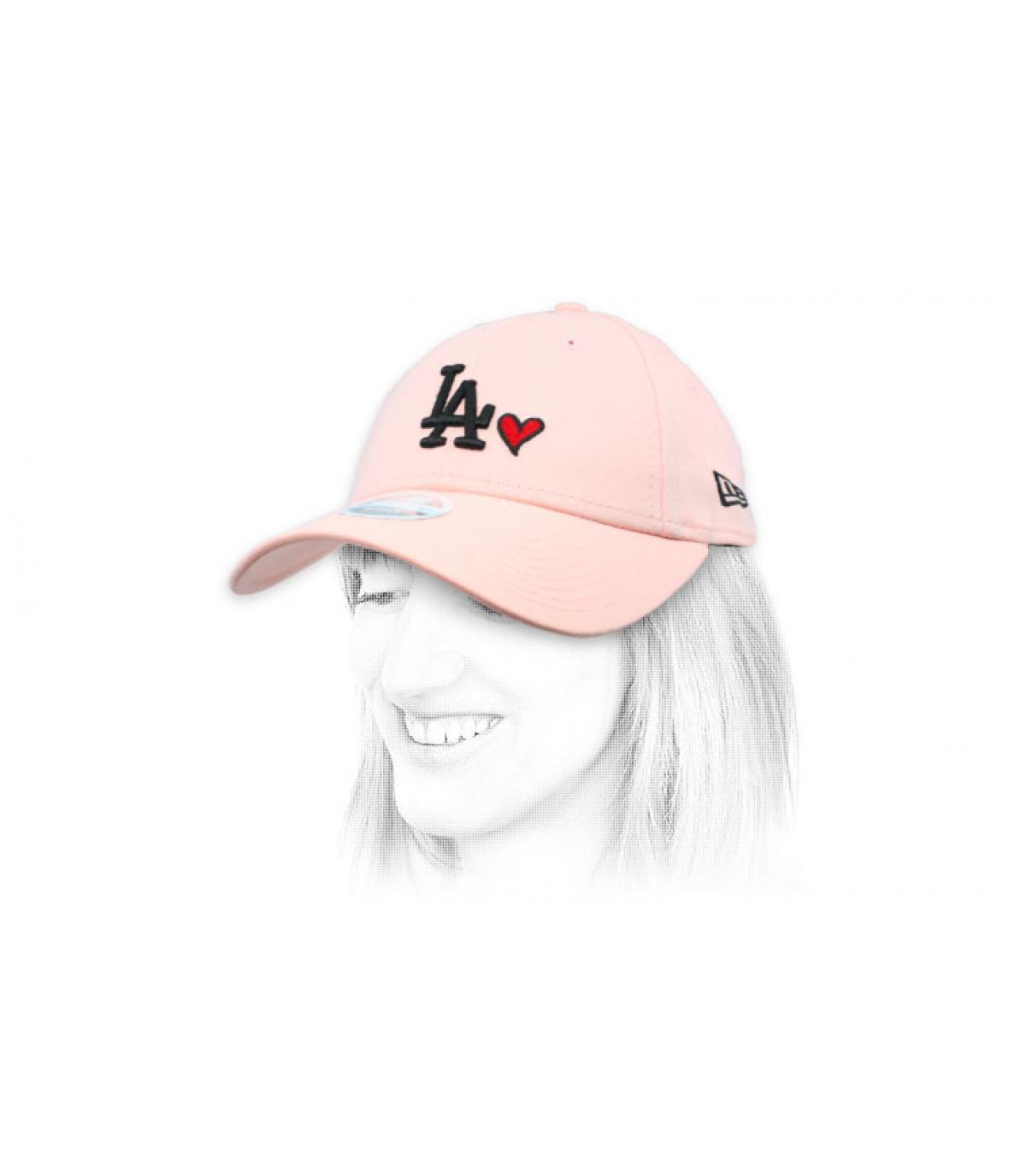 LA rose vrouw cap