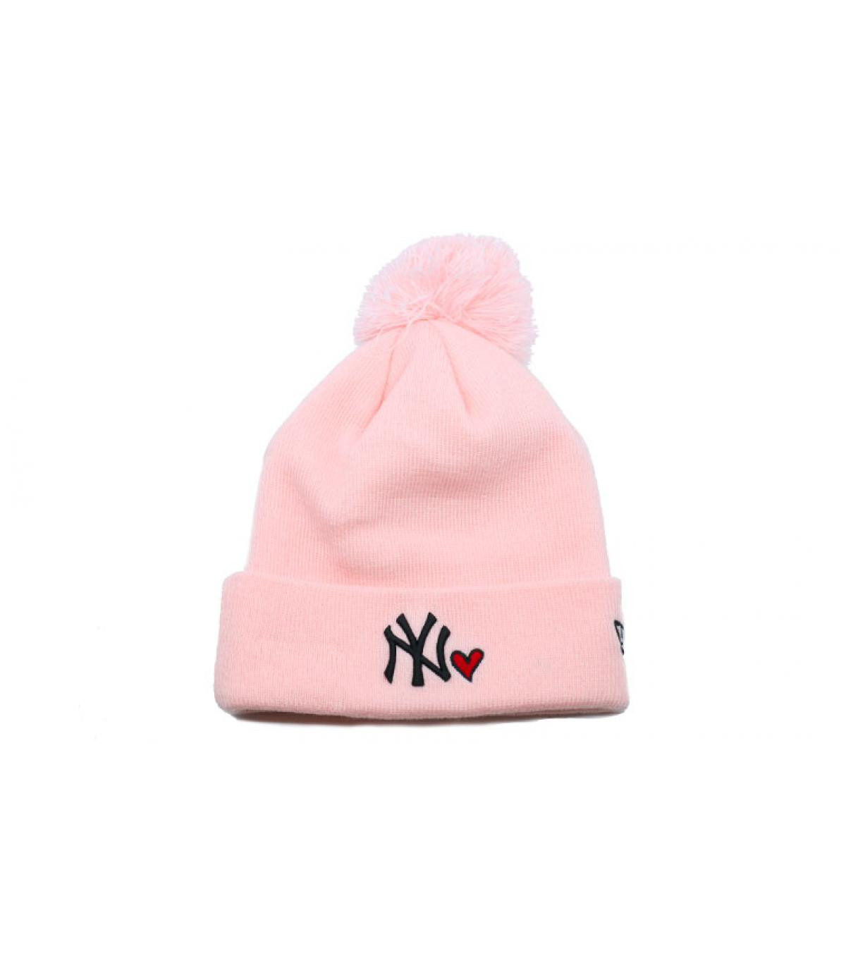 Details Bonnet Wmns Heart NY knit pink - afbeeling 2