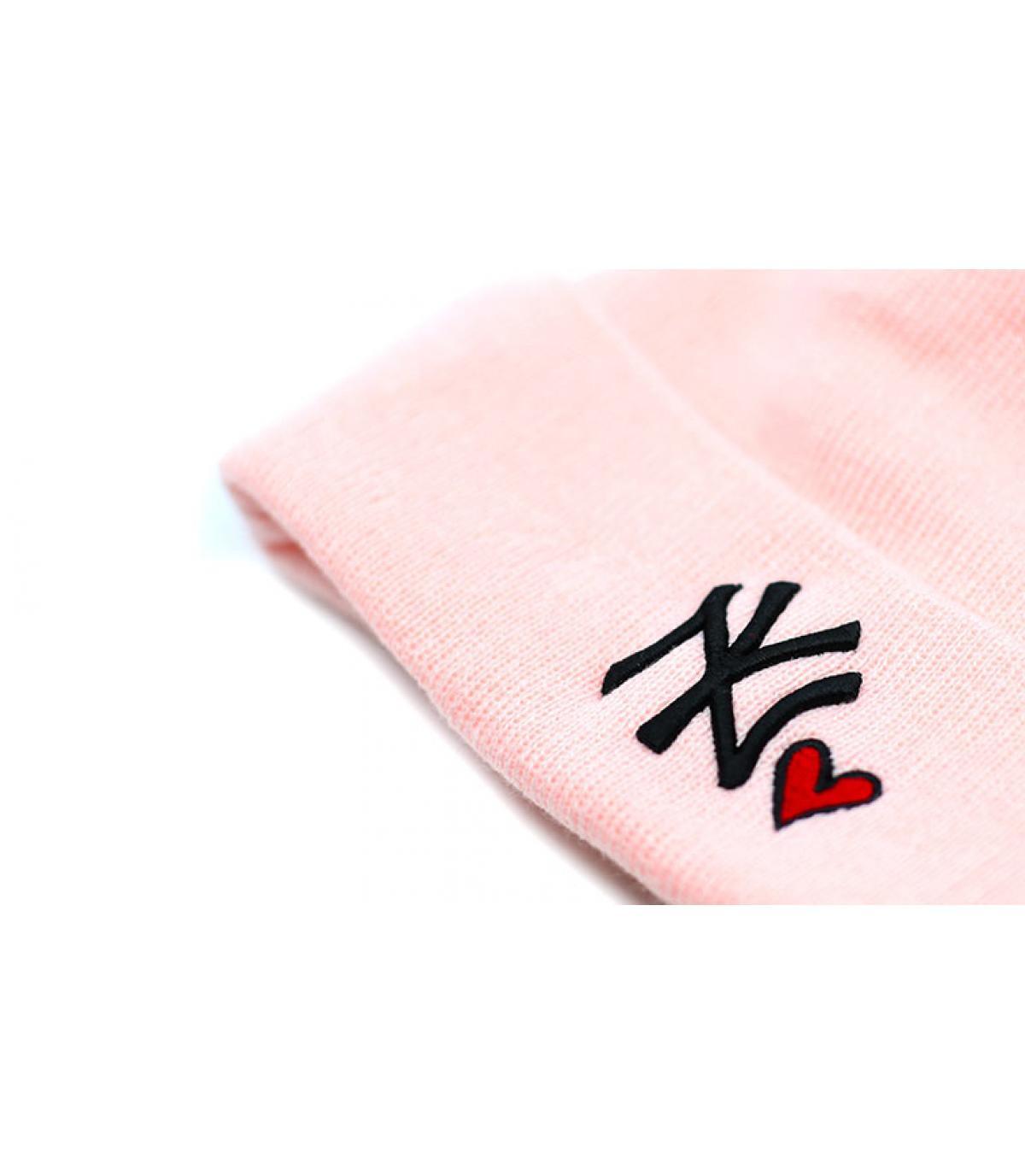 Details Bonnet Wmns Heart NY knit pink - afbeeling 3