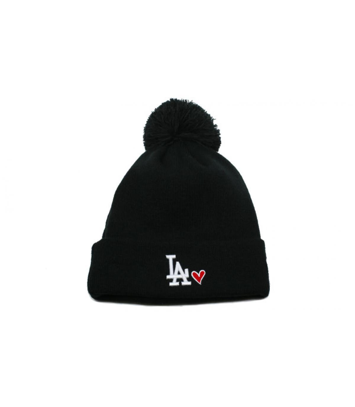 Details Bonnet Wmns Heart LA knit black - afbeeling 2