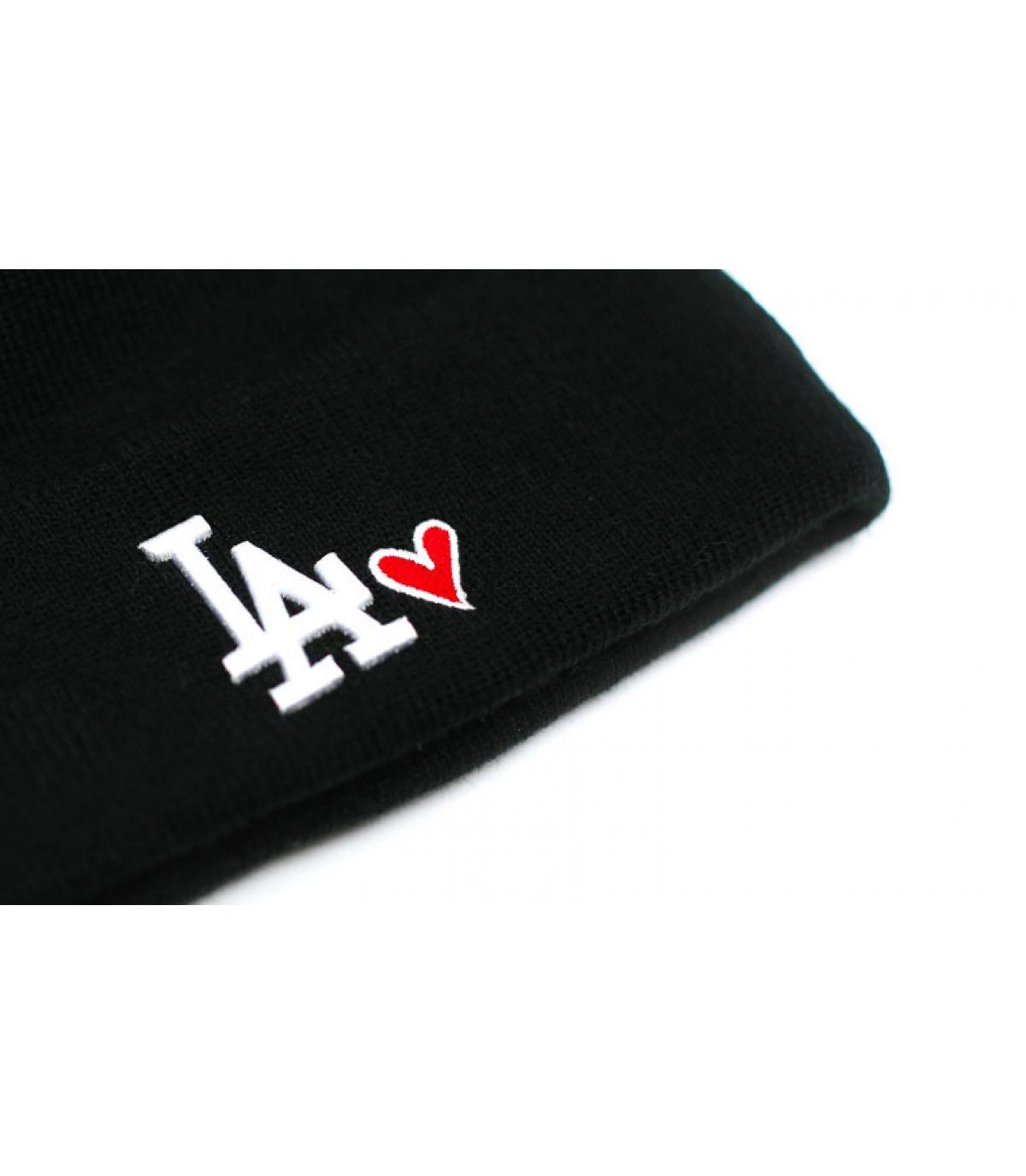 Details Bonnet Wmns Heart LA knit black - afbeeling 3