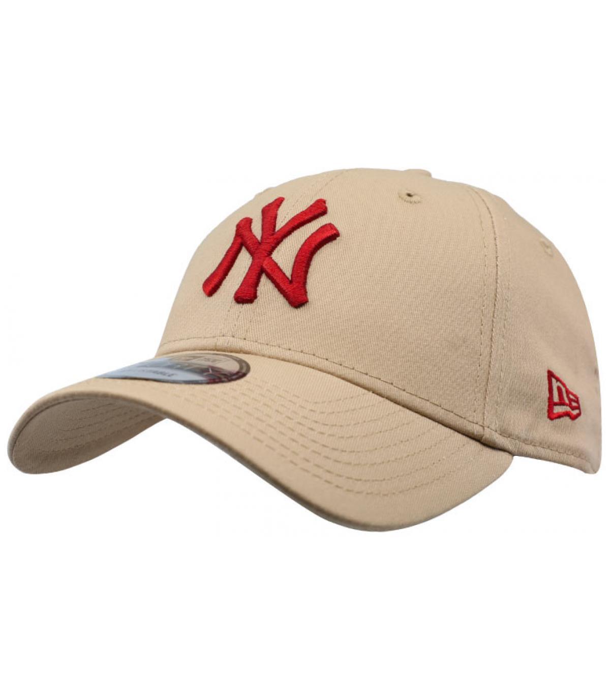 beige beige NY cap