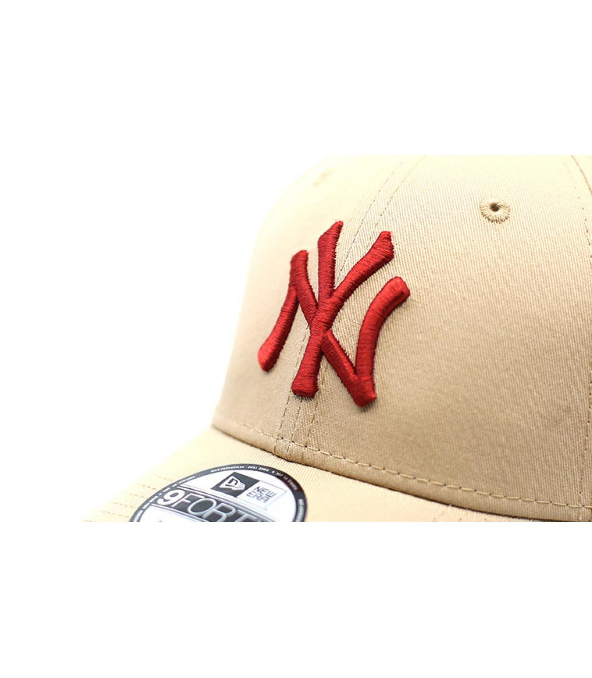 Details League Ess NY 9Forty camel hot red - afbeeling 3