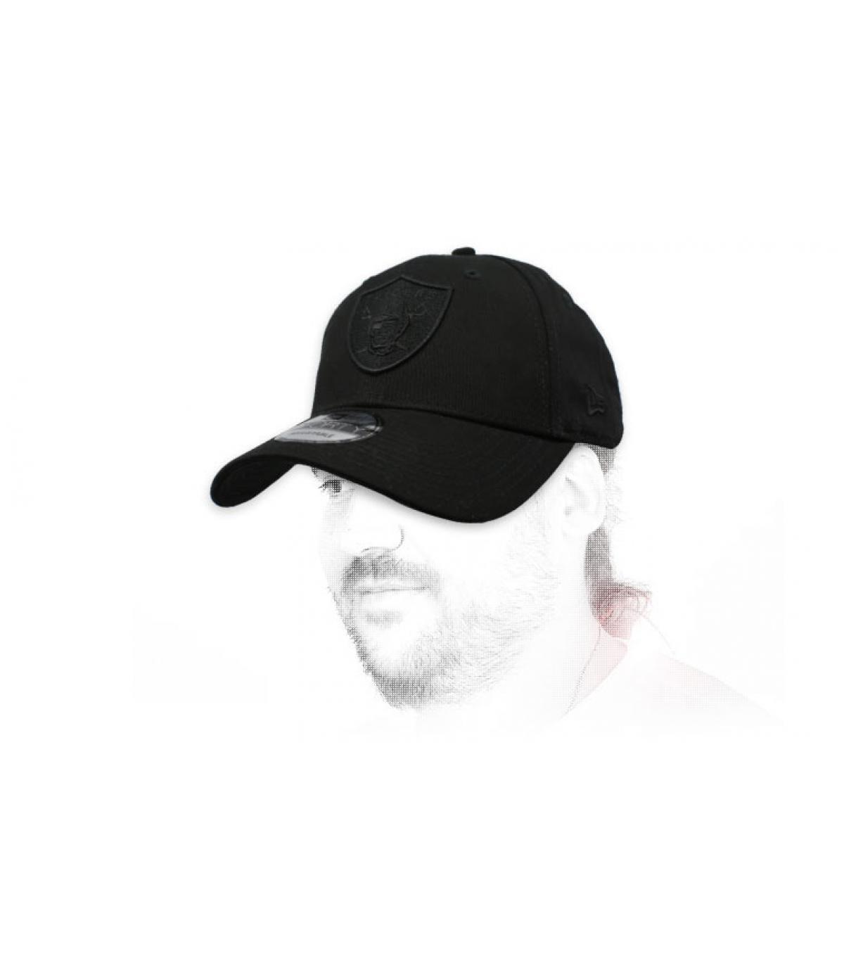 zwarte Raiders cap