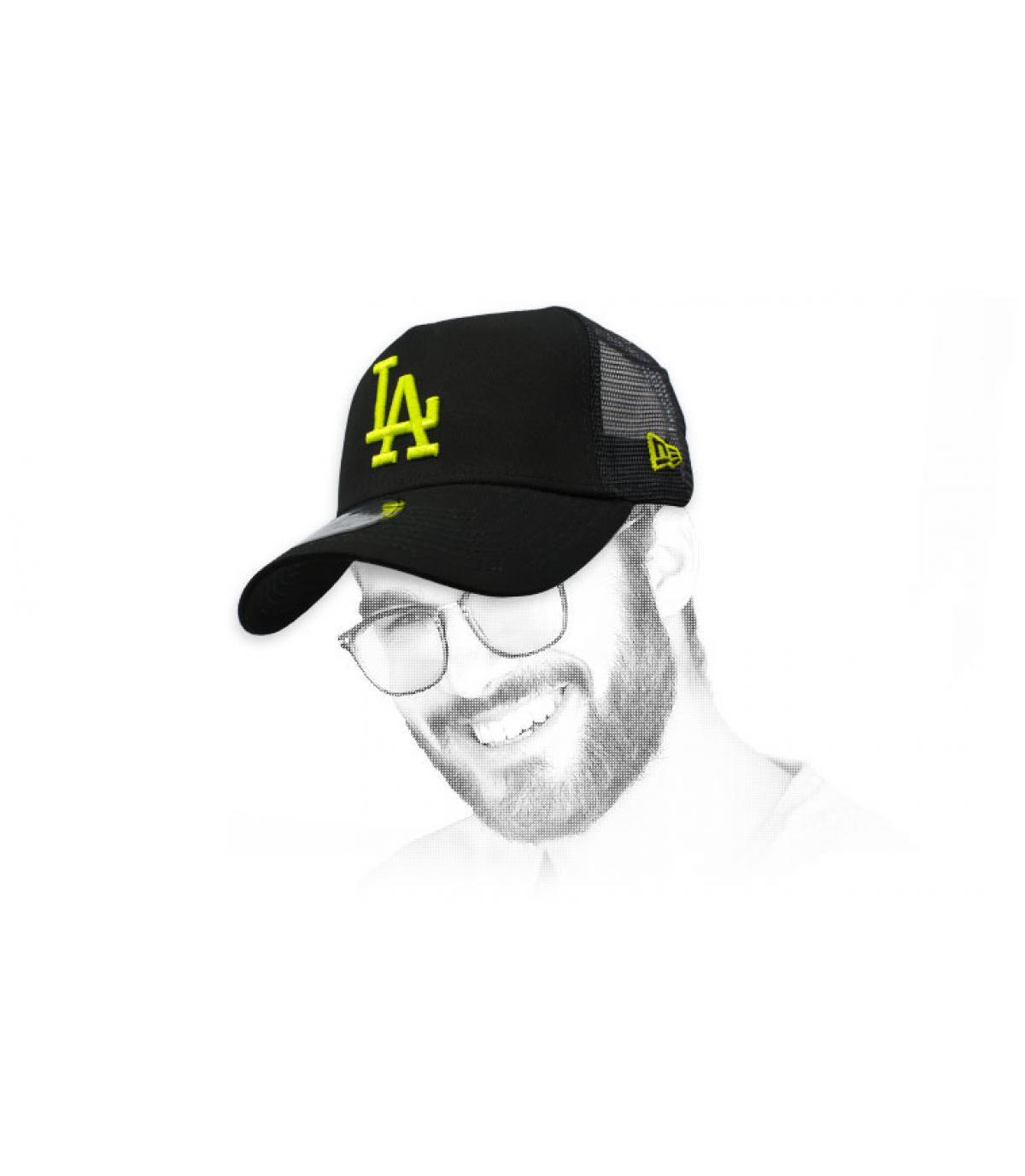 trucker LA zwart geel