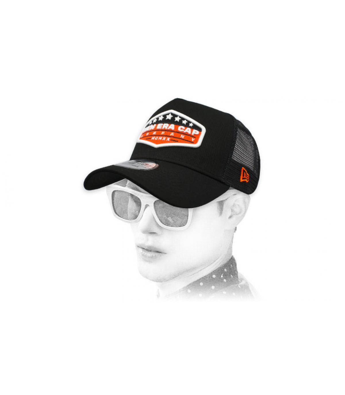 trucker New Era patch zwart oranje