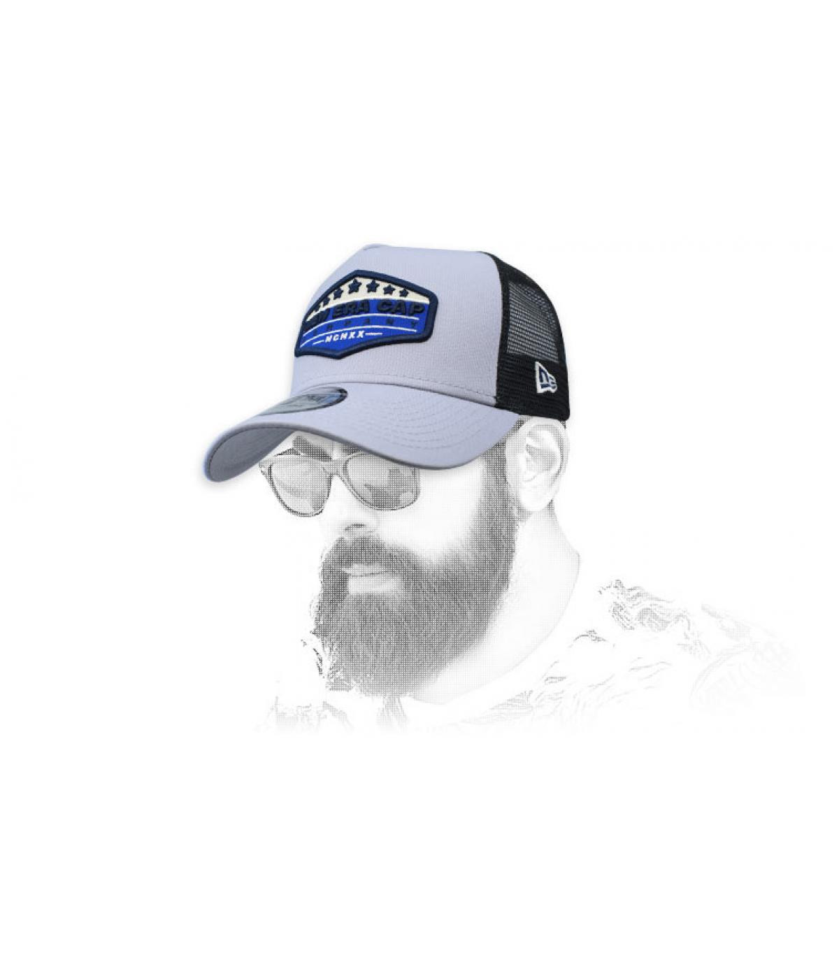 trucker New Era blauwgrijze patch