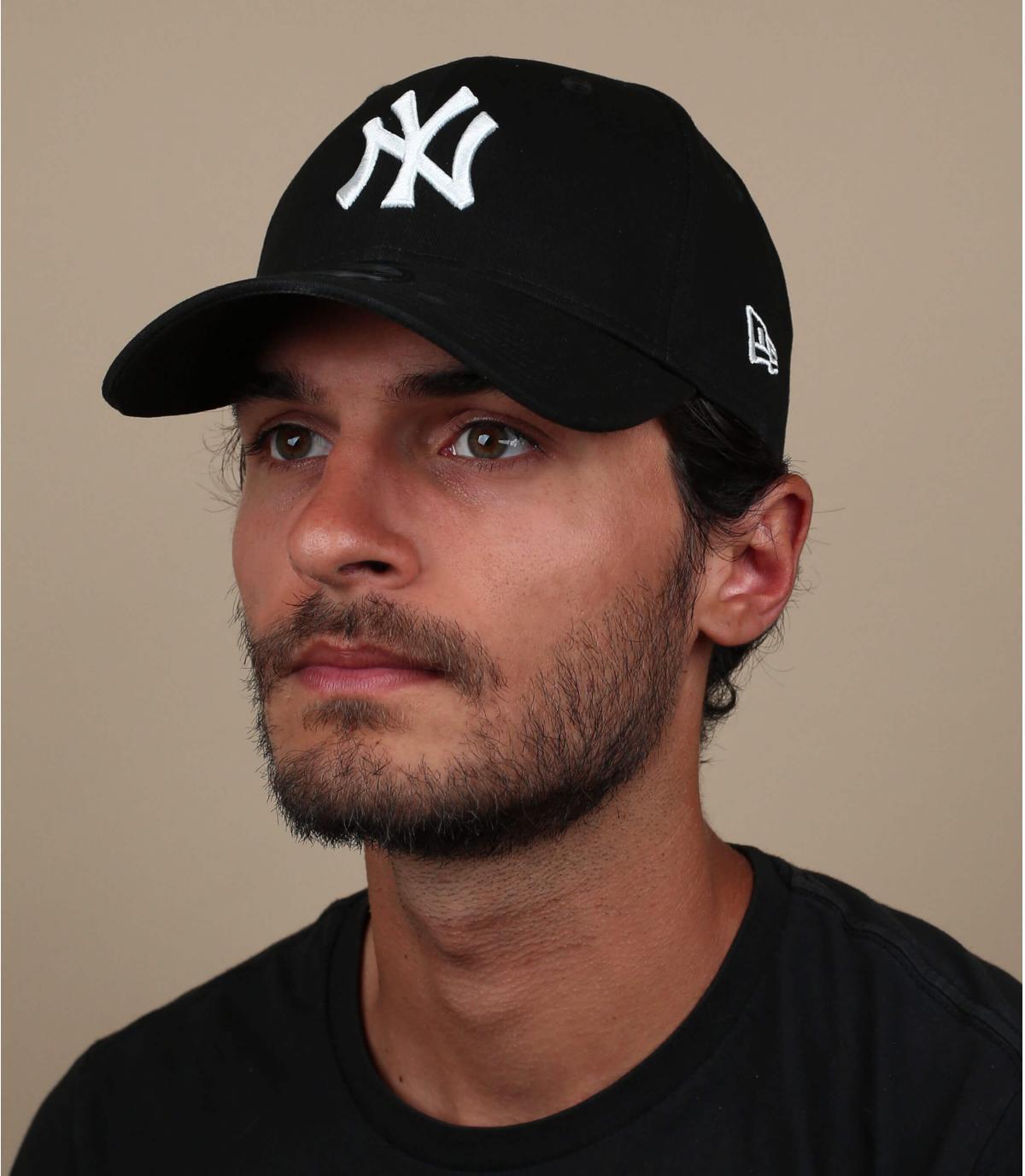 NY zwarte stretch cap