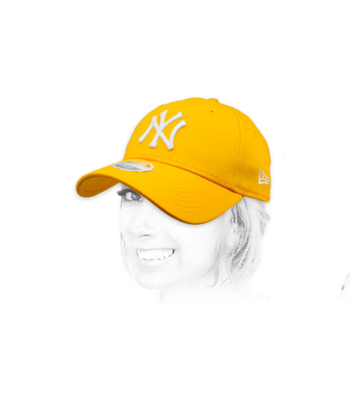 NY gele vrouw cap