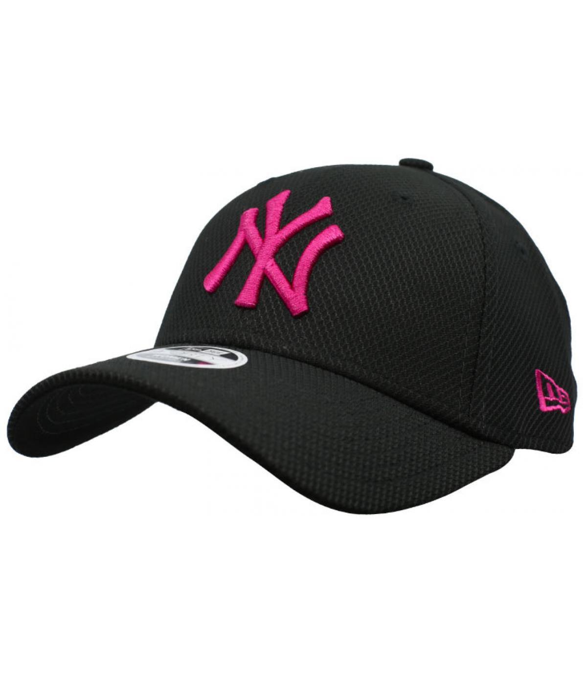 NY cap vrouw zwart roze