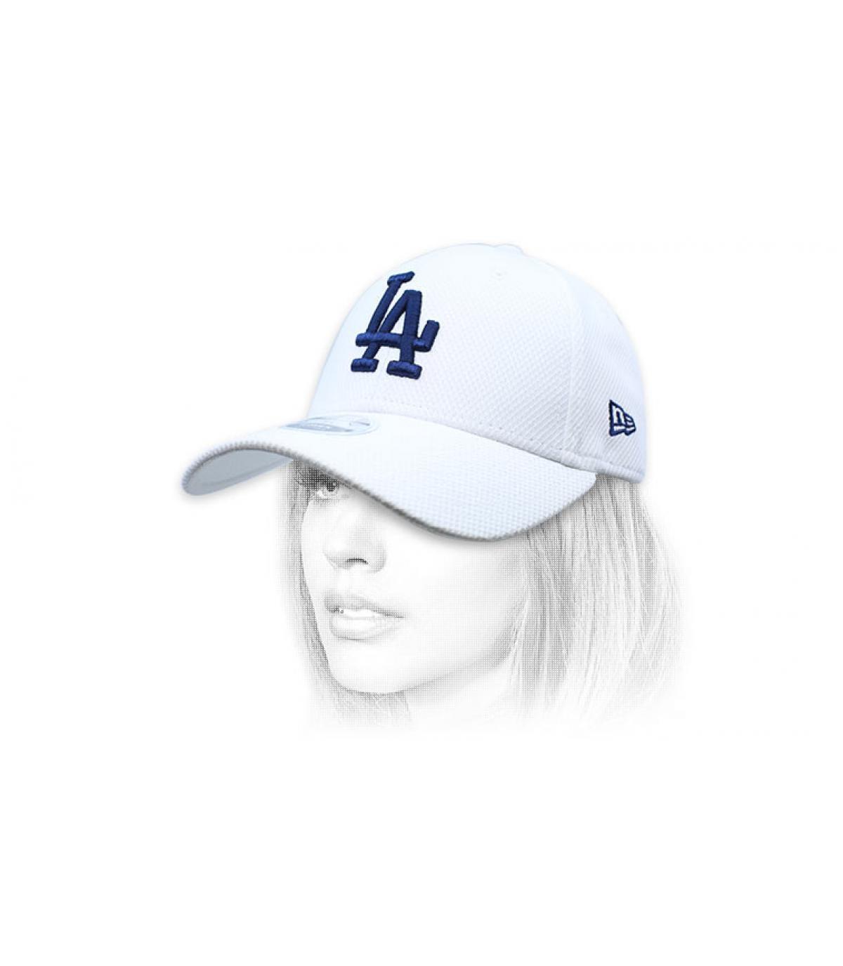 kap LA vrouw wit blauw