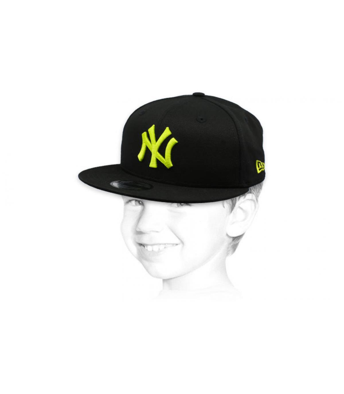 kindermuts NY zwart geel
