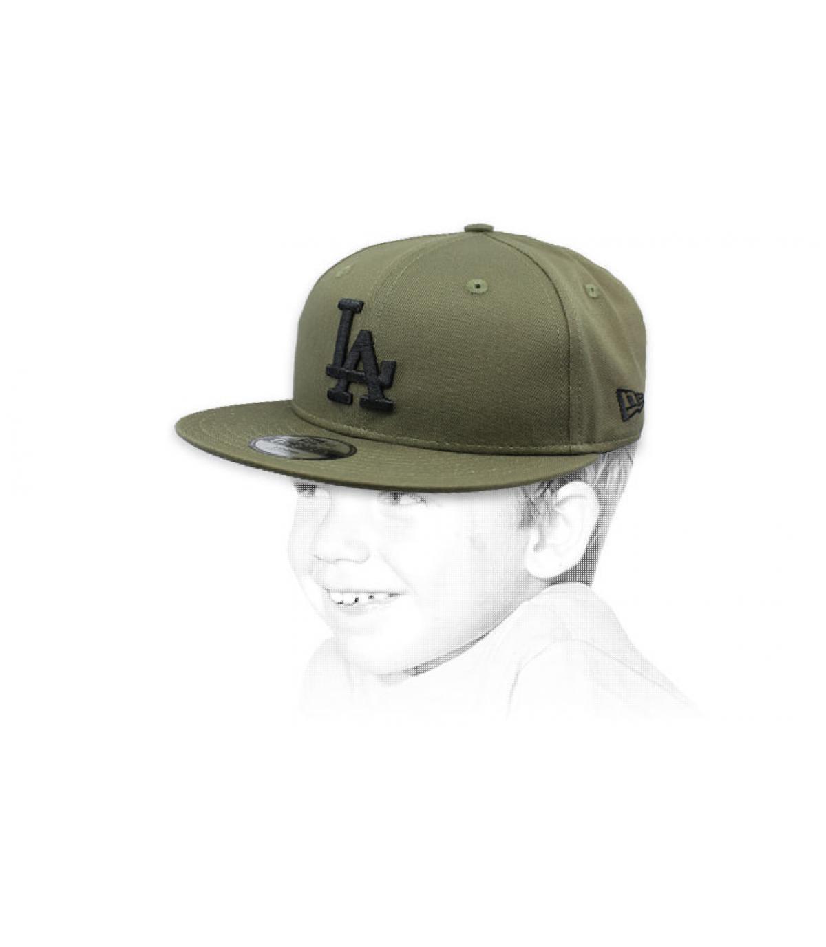 kindermuts LA groen zwart