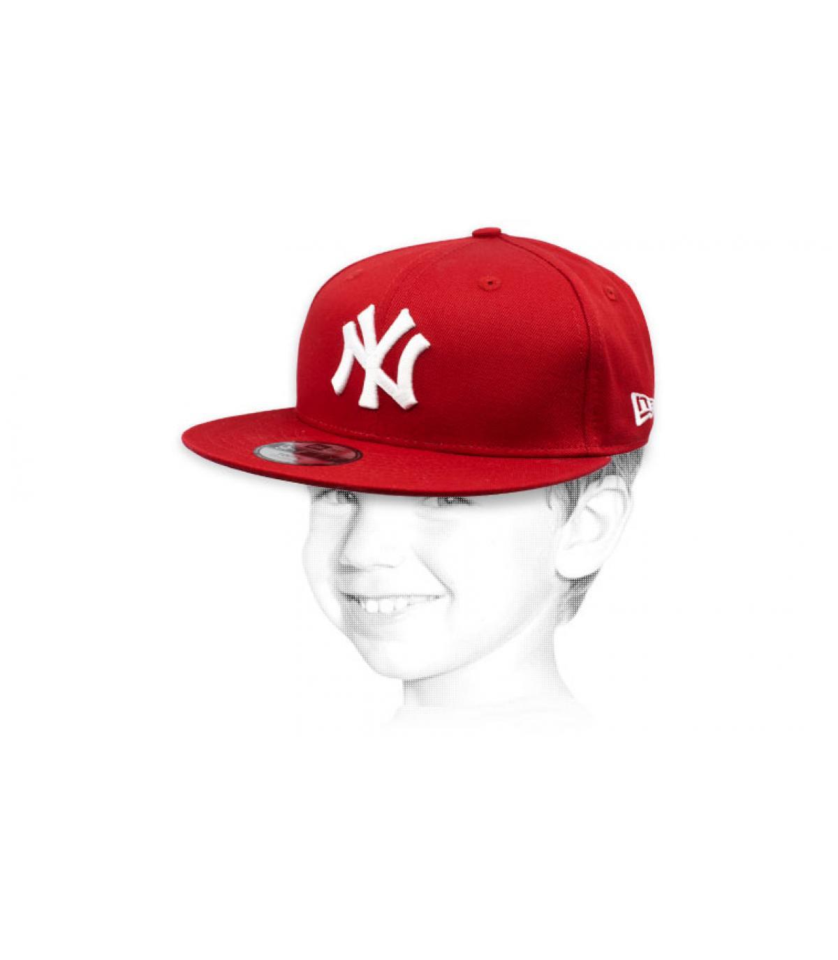 kindermuts NY rood wit