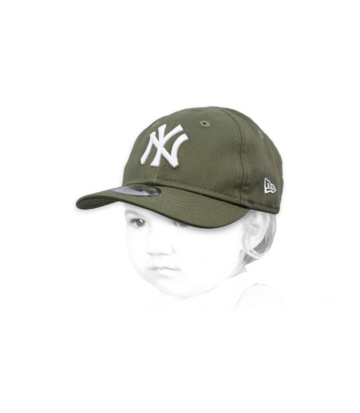 NY groene baby cap