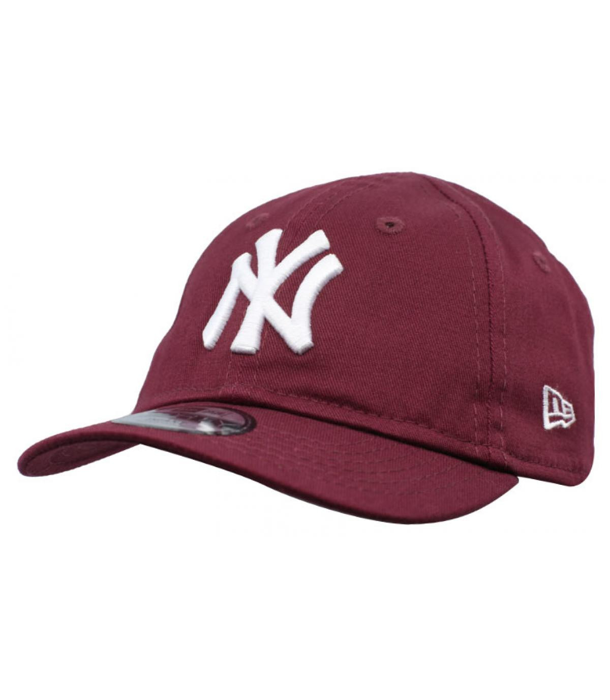Details Baby League Ess NY 9Forty maroon - afbeeling 2