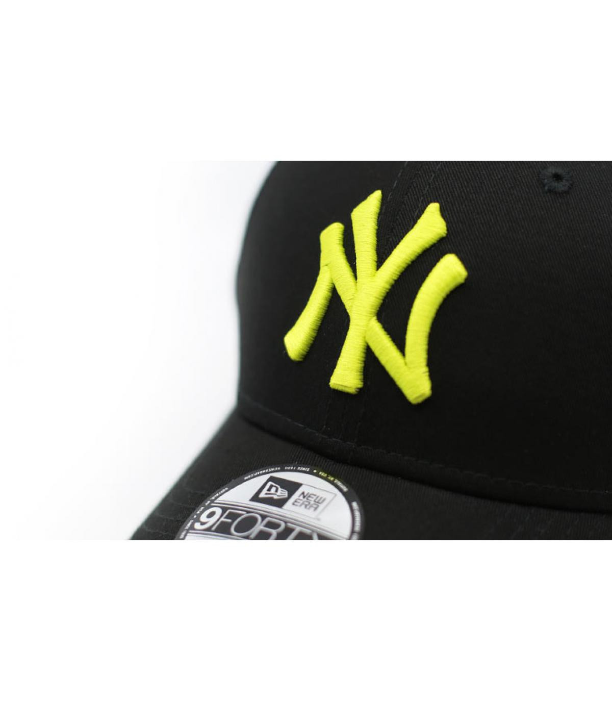 Details Kids League Ess NY 9Forty black cyber green - afbeeling 3
