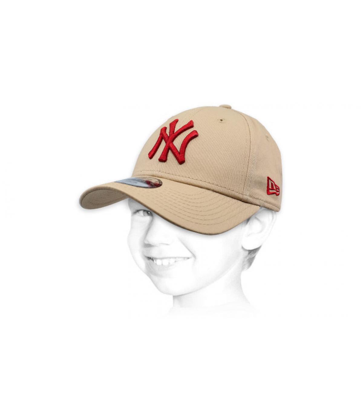beige NY kid cap