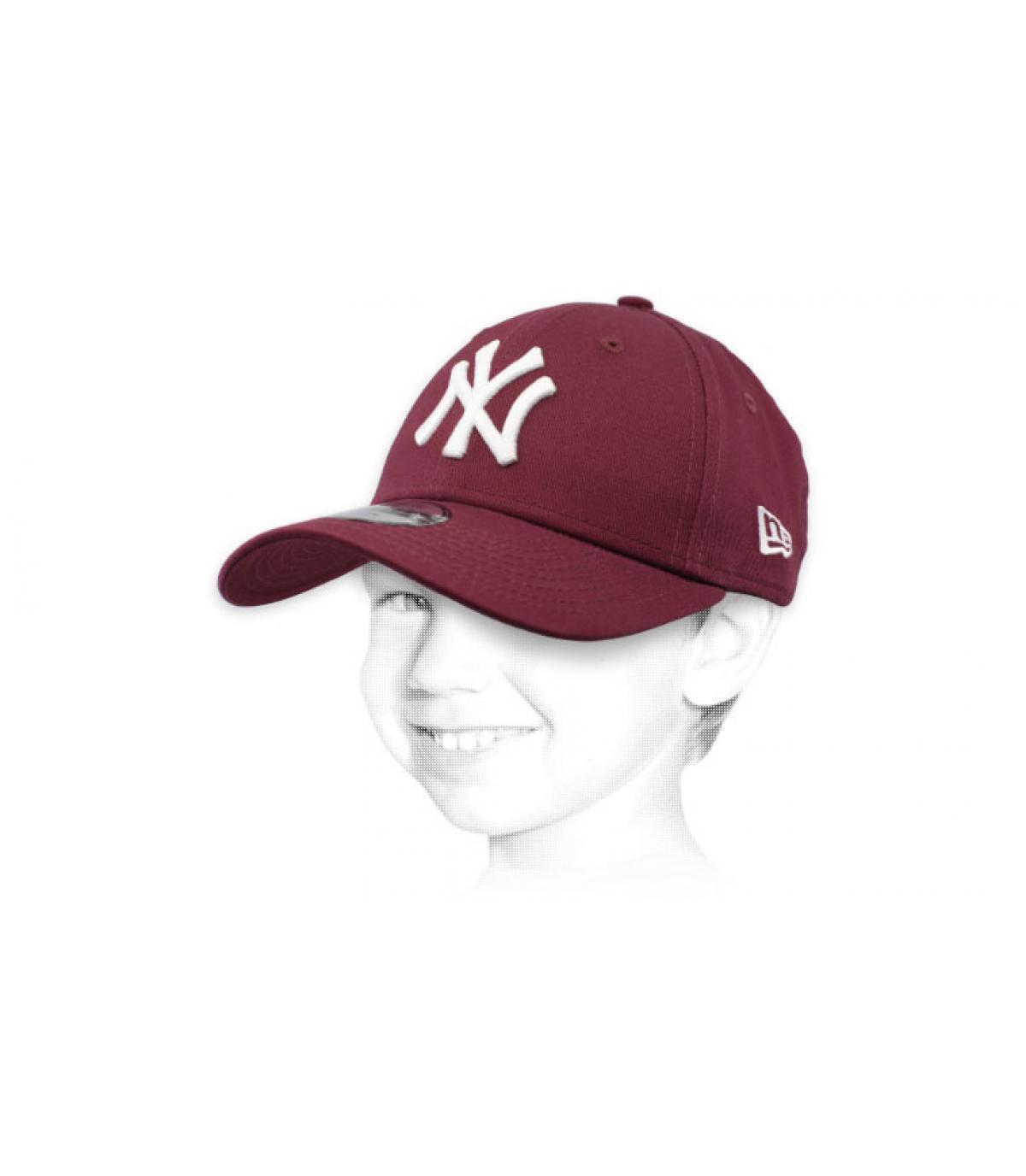 paarse jongen NY cap