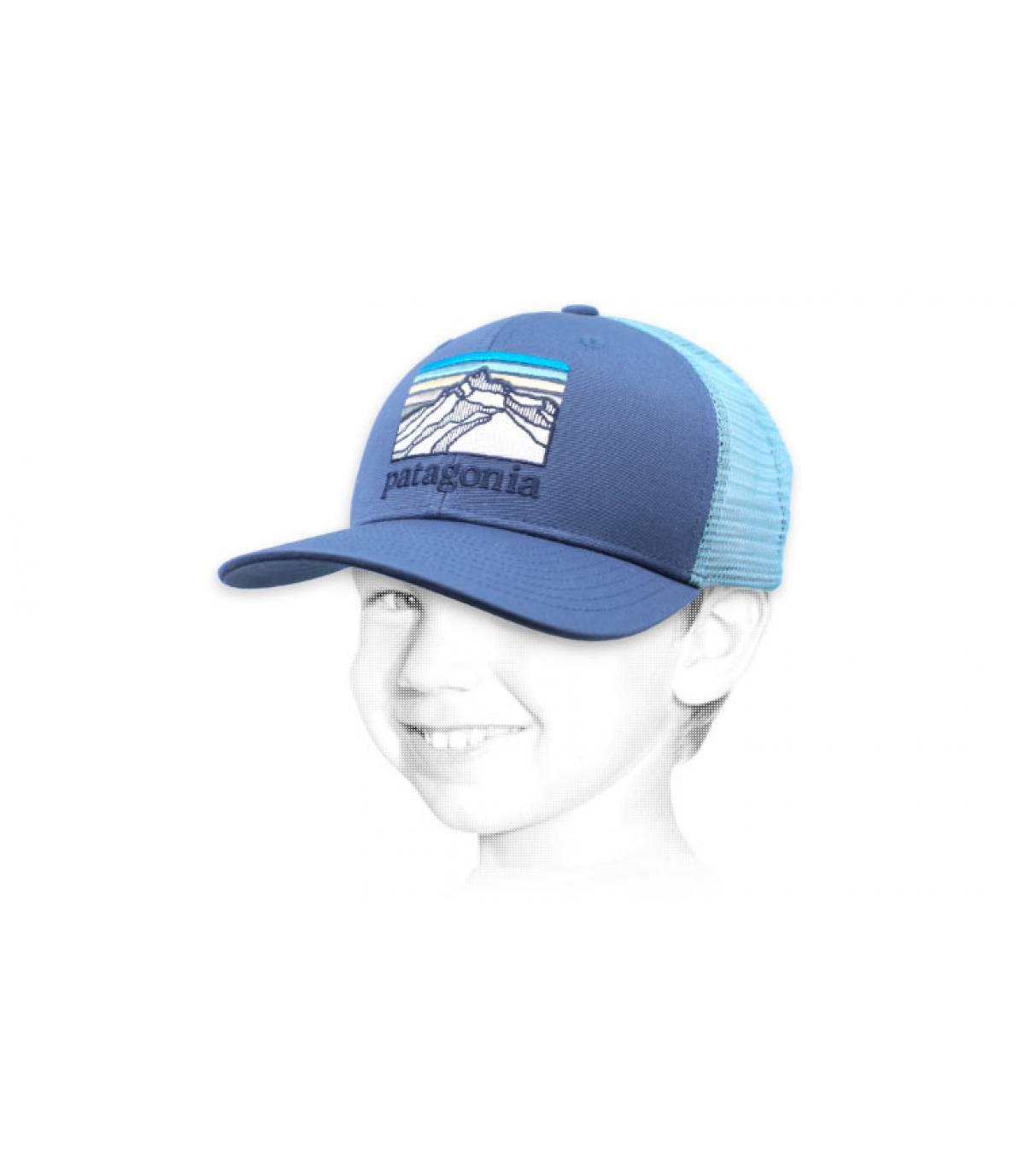 blauwe Patagonië kind trucker