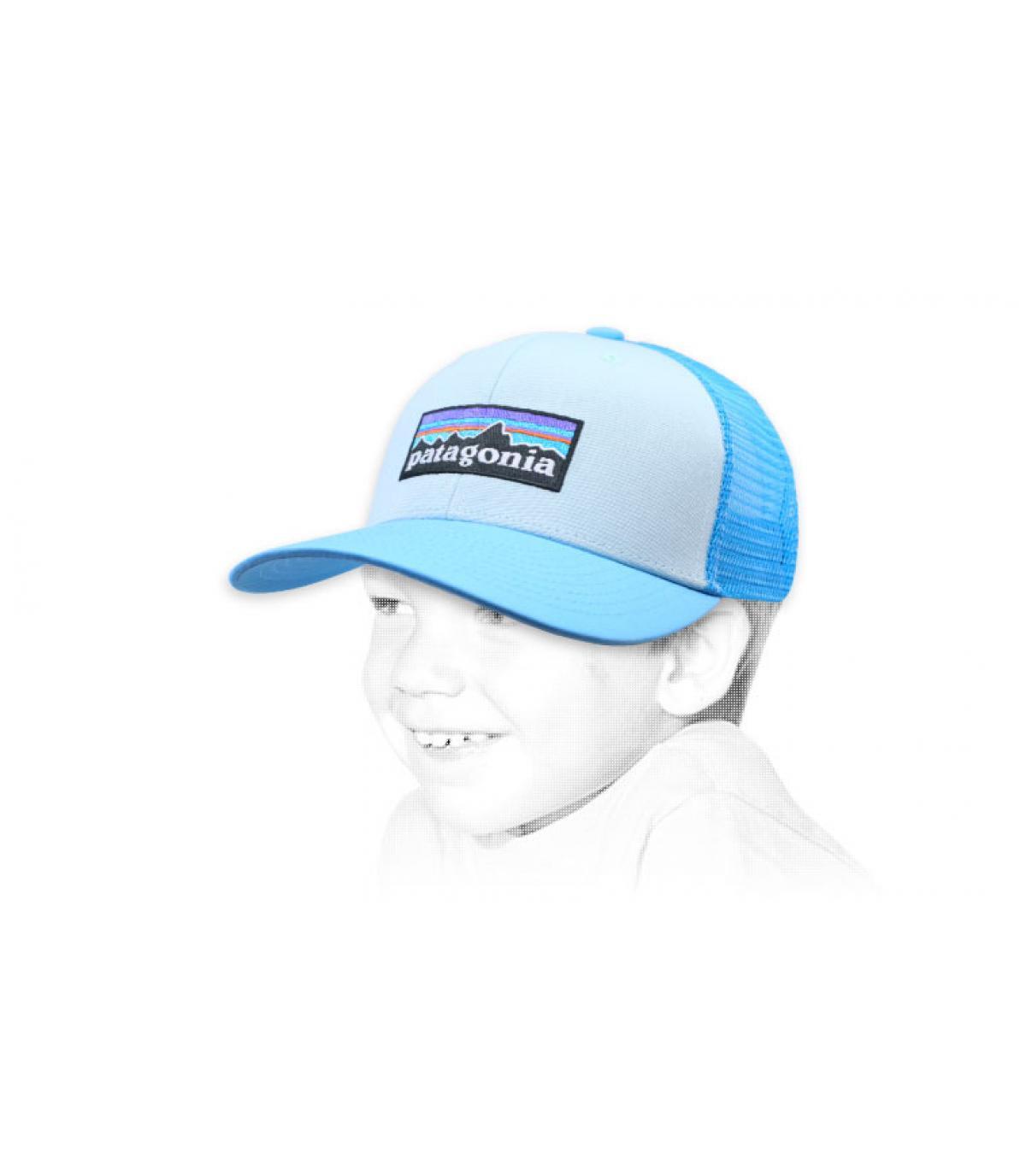 blauwe kind trucker Patagonië