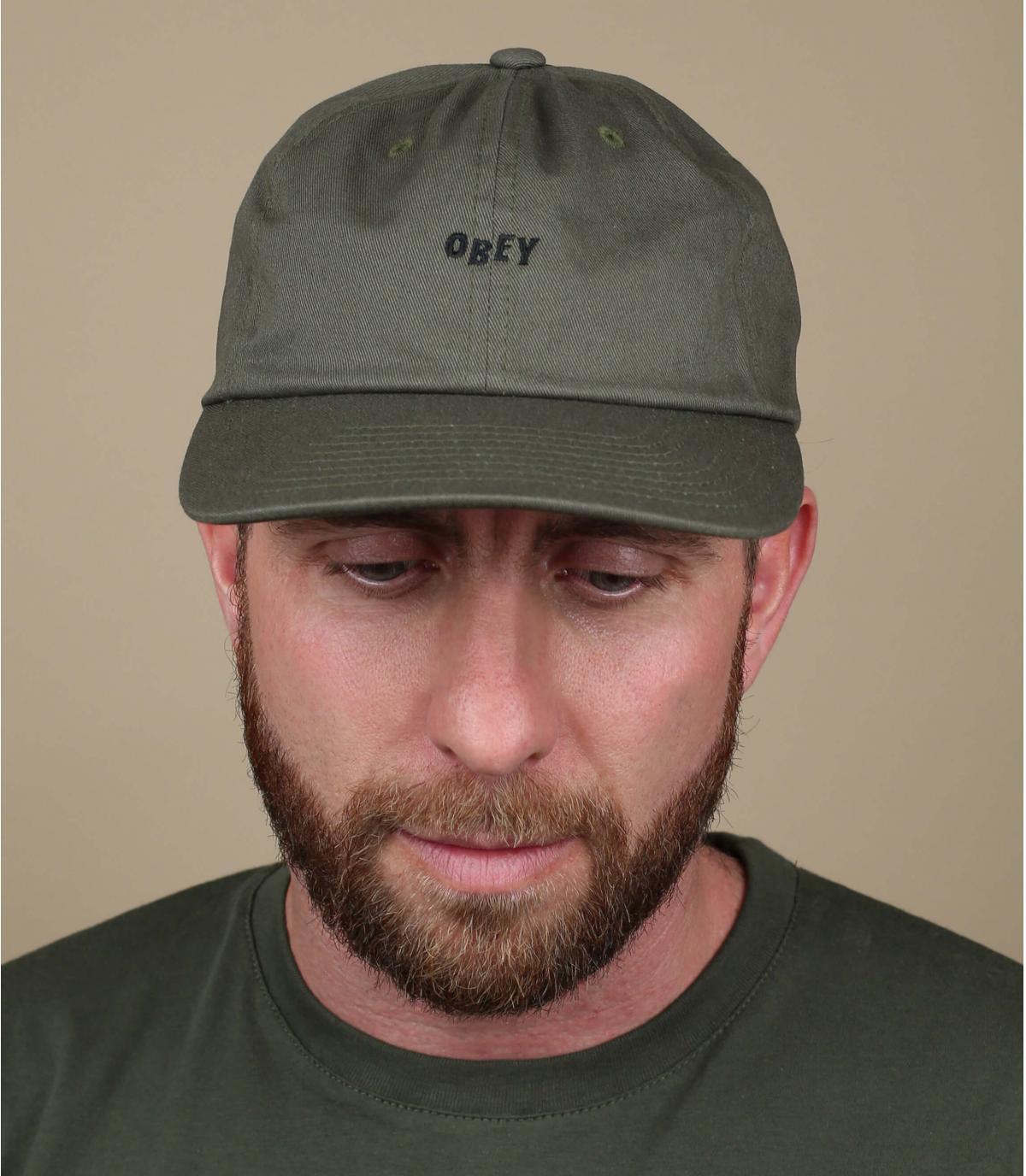 olijfgroen gehoorzamen cap