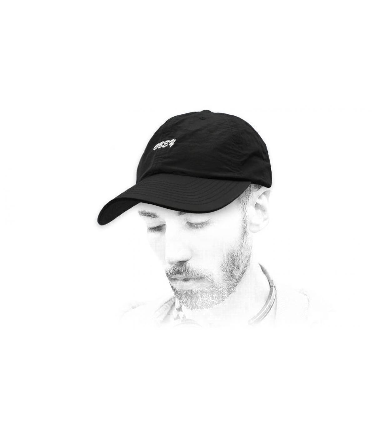 zwart Obey cap