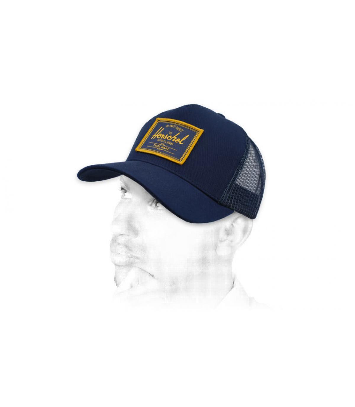 trucker Herschel blauwe patch