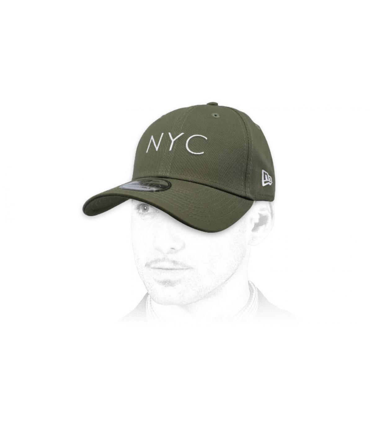 Groene olijfoliekap NYC