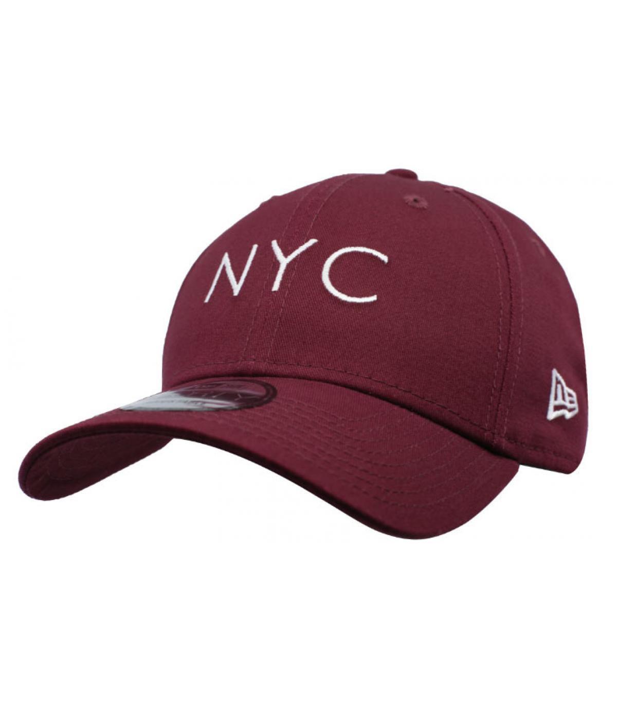 Details NYC NE Ess 9Forty maroon - afbeeling 2