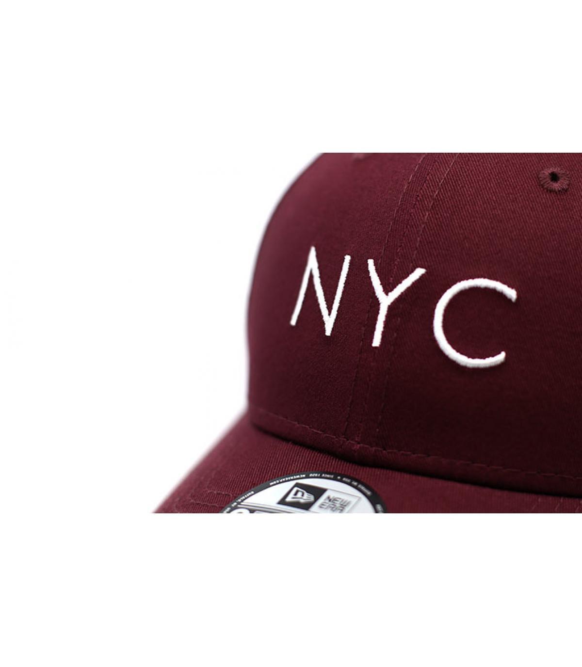 Details NYC NE Ess 9Forty maroon - afbeeling 3