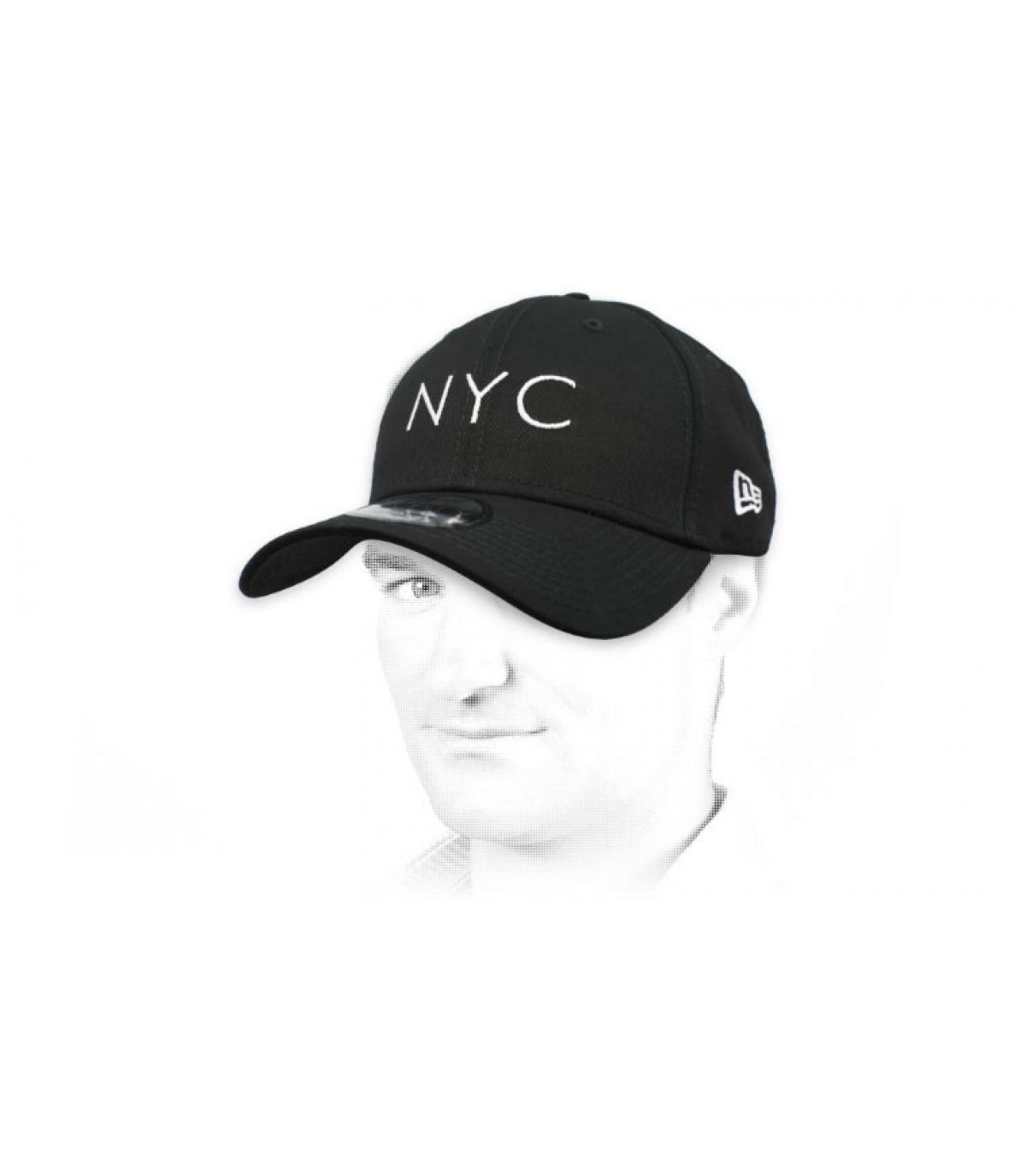 zwarte NYC cap