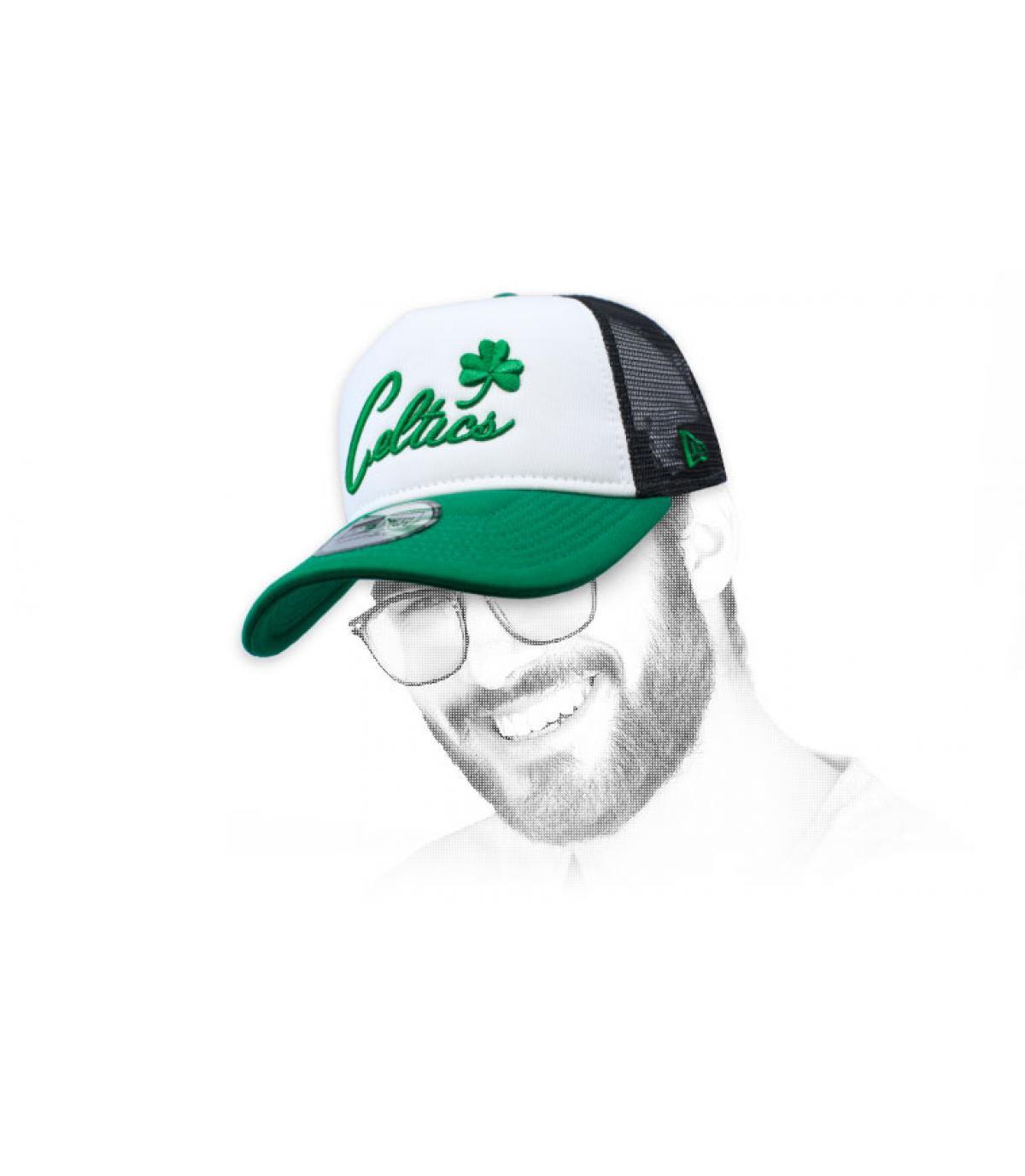 groene Celtics trucker