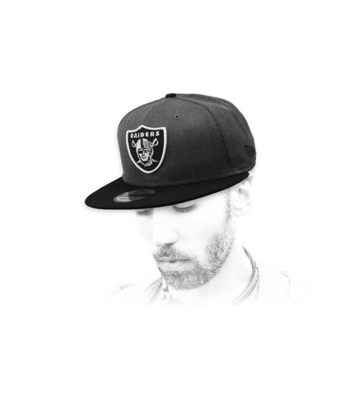 grijze Raiders snapback