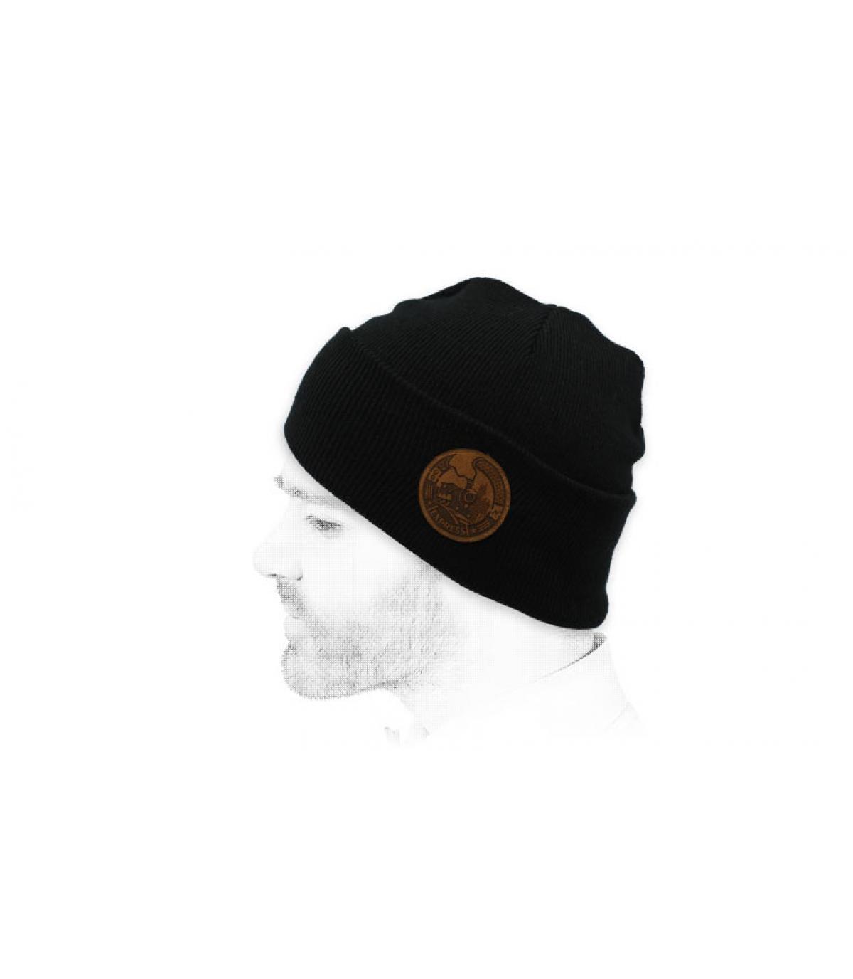 zwarte sneltrein hoed