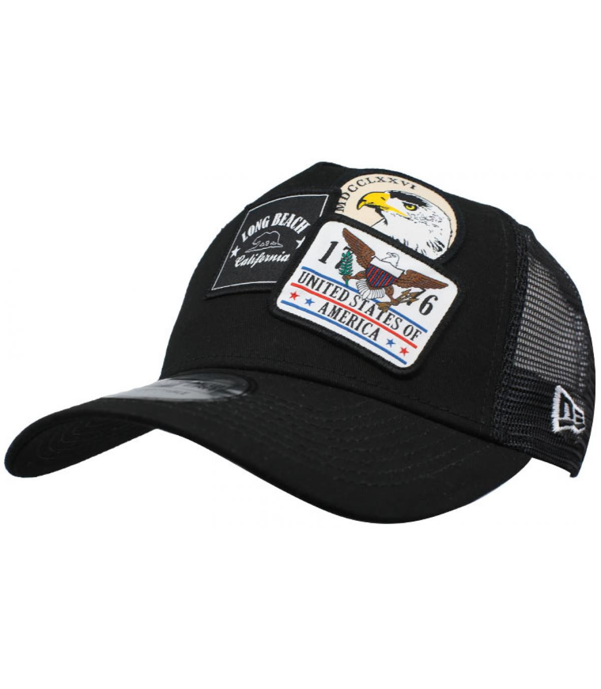 Details Trucker Overlapping patch black - afbeeling 1