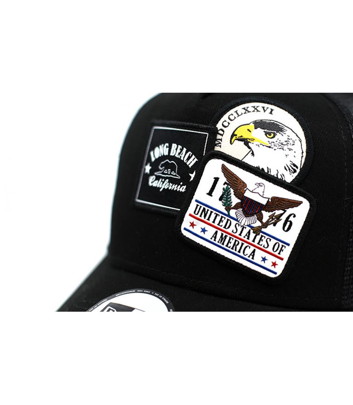 Details Trucker Overlapping patch black - afbeeling 3