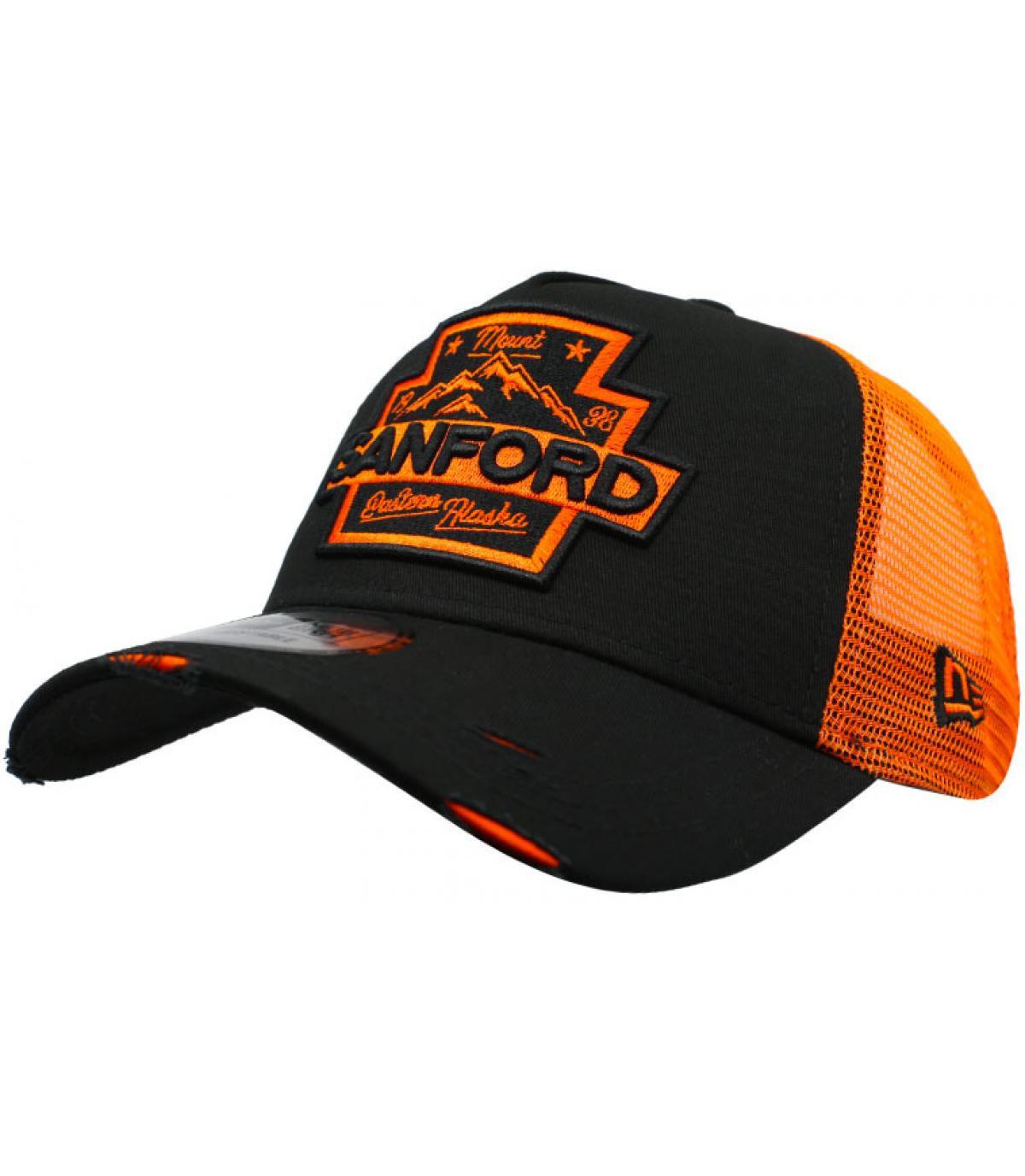 trucker Sanford zwart oranje