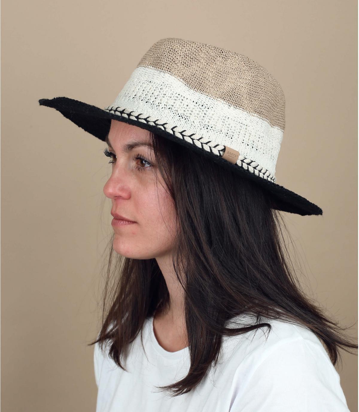 gestreepte katoenen hoed
