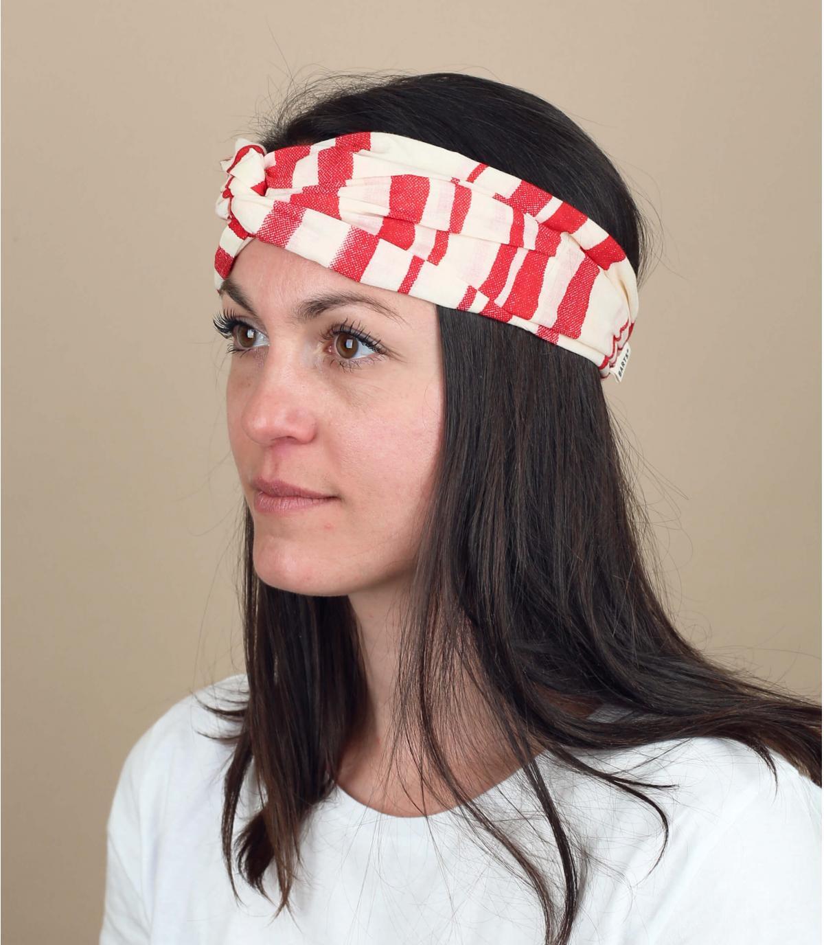 witte rode strepen hoofdband