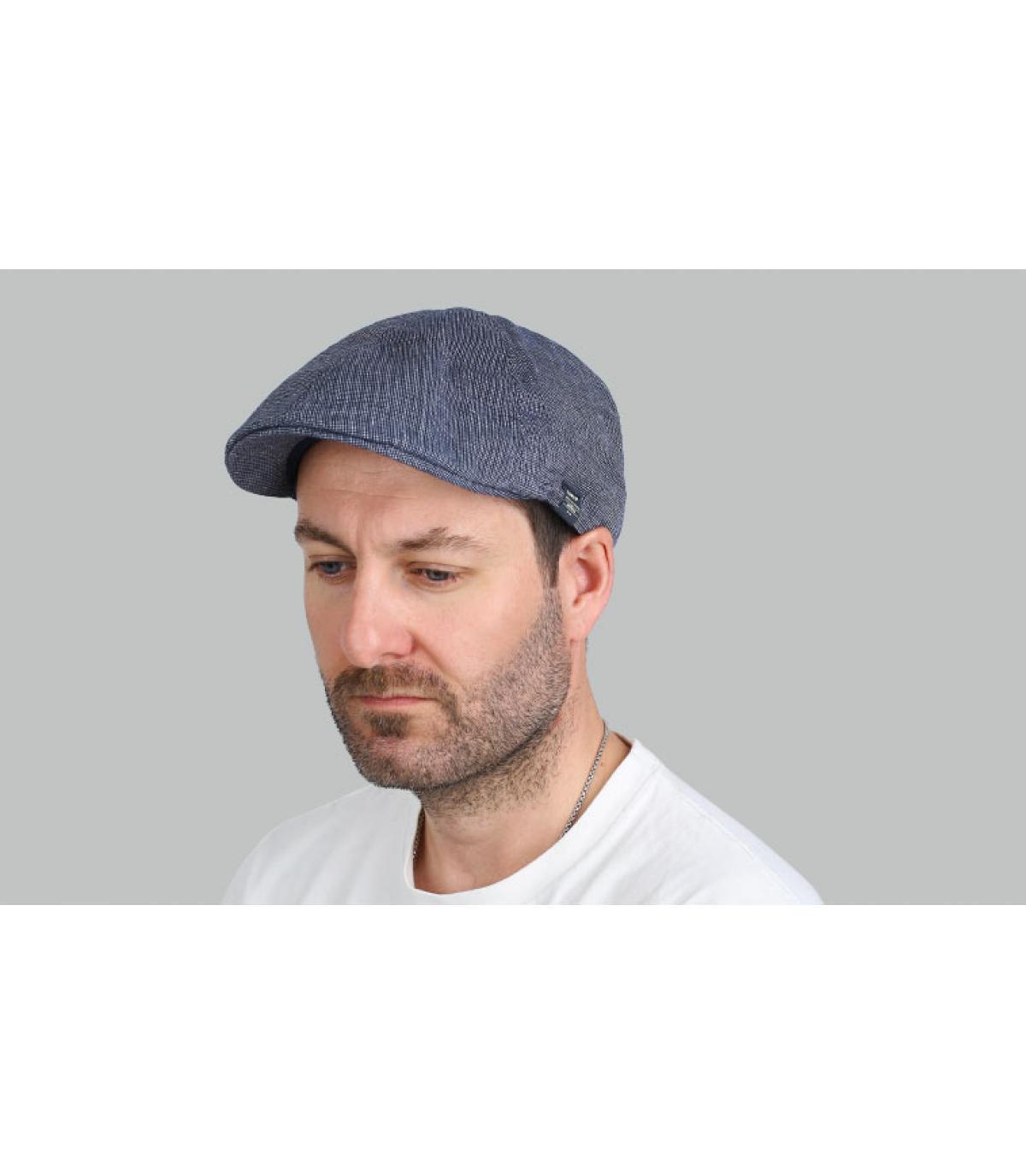 blauwe eendenbek baret