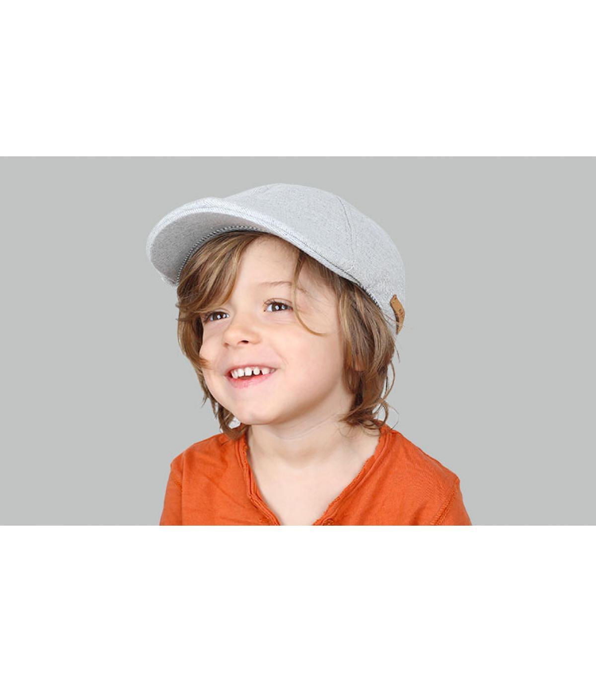 grijs kind baret