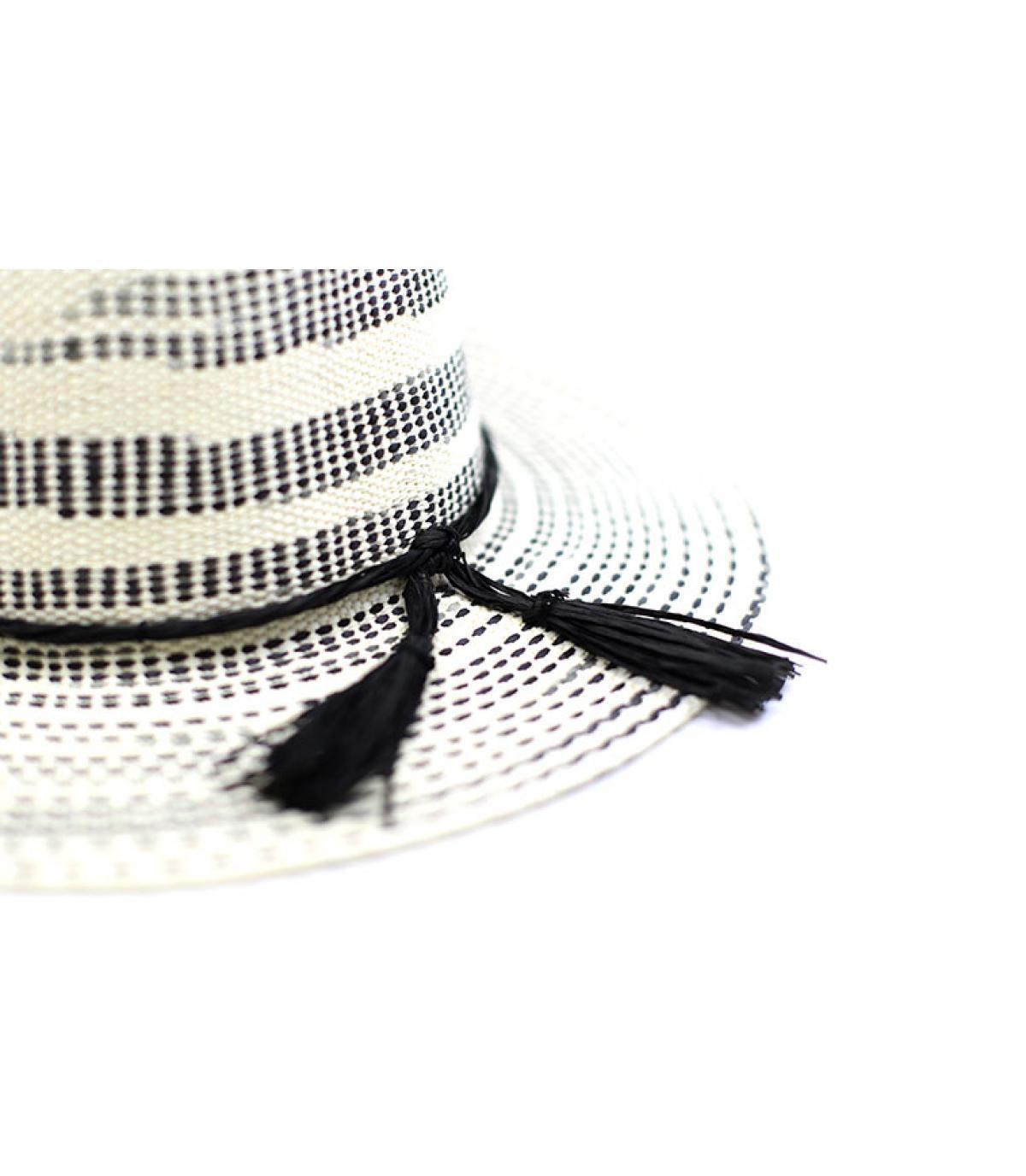Details Fedora Irregular Stripe optic black ivory - afbeeling 3