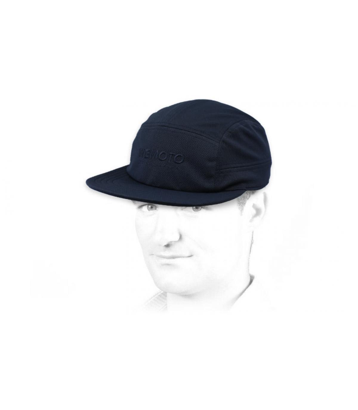 blauwe Wemoto-paneelkap