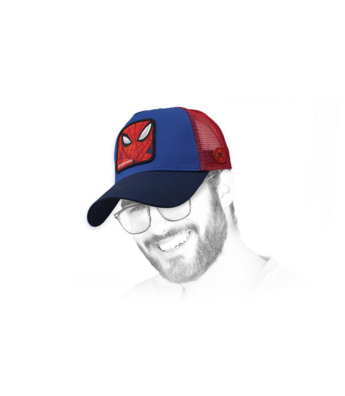 rood-blauwe Spiderman-trucker
