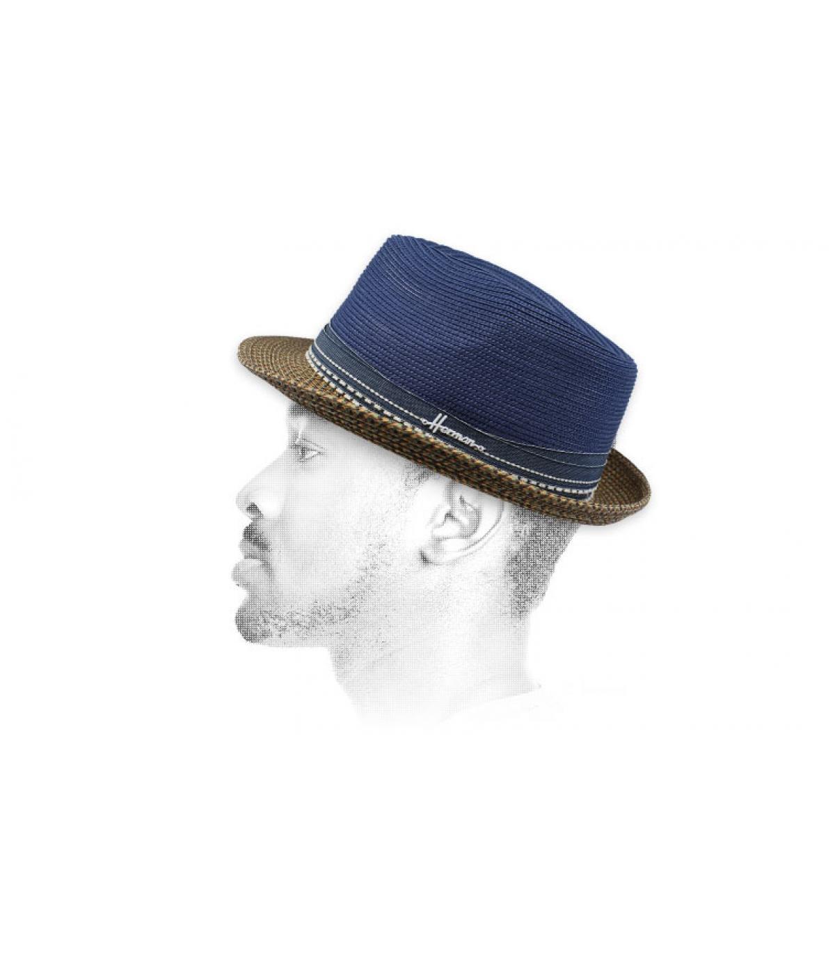 waterafstotende blauwe hoed